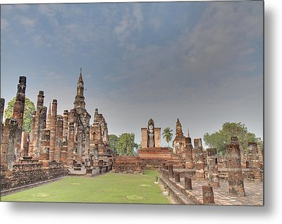 Sukhothai Historical Park - Sukhothai Thailand - 011329 Metal Print by DC Photographer