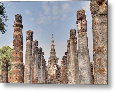 Sukhothai Historical Park - Sukhothai Thailand - 011336 Metal Print by DC Photographer