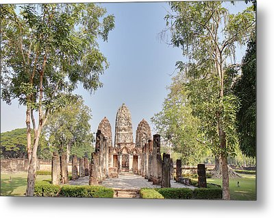 Sukhothai Historical Park - Sukhothai Thailand - 011350 Metal Print