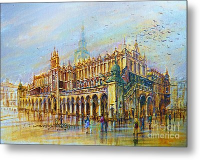 Sukiennice In Cracow Metal Print