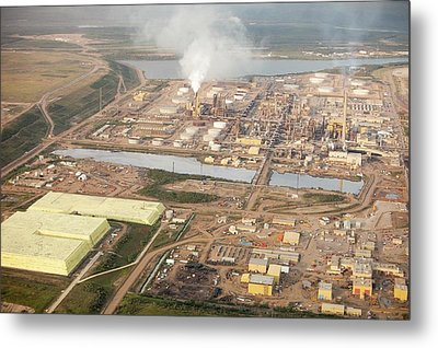 Sulphur Extracted From Tar Sands Metal Print by Ashley Cooper
