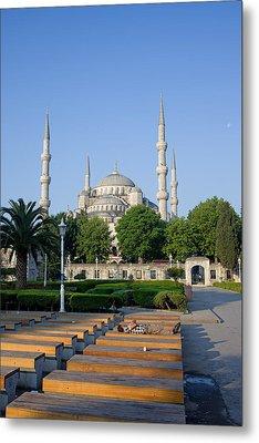 Sultan Ahmet Mosque In Istanbul Metal Print by Artur Bogacki