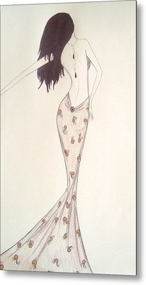 Sultry Sophisticate  Metal Print by Christine Corretti