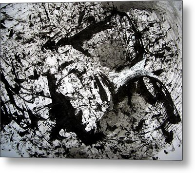Sumi-e 130422-1 Metal Print by Aquira Kusume