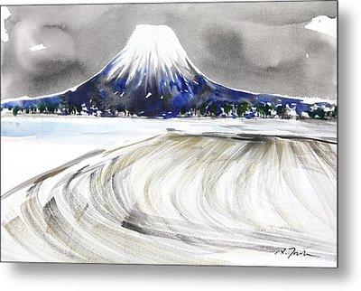 Sumie No.17 Mt.youtei In Hokkaido Japan Metal Print by Sumiyo Toribe