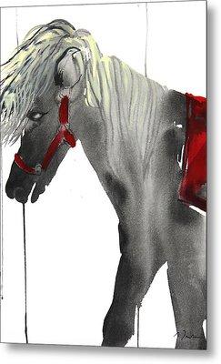 Sumie No.20 Pony Ride Metal Print by Sumiyo Toribe