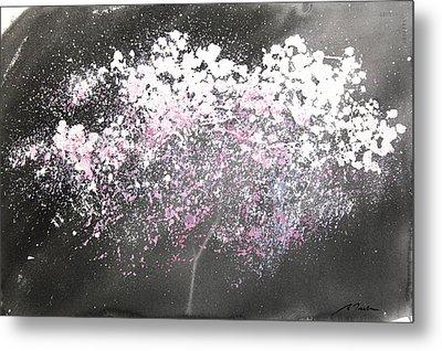 Sumie No.21 Night Blossoms Metal Print by Sumiyo Toribe