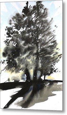 Sumie No.9 Trees Metal Print by Sumiyo Toribe