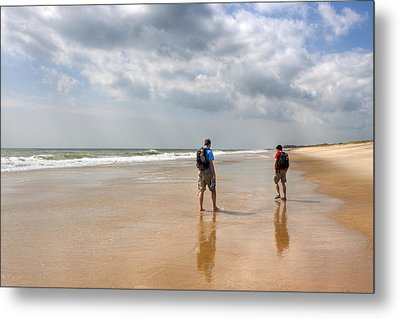 Summer A Beach In The Hamptons Metal Print by Mark E Tisdale