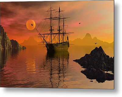 Summer Anchorage Metal Print