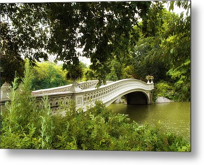 Summer At Bow Bridge Metal Print by Jessica Jenney