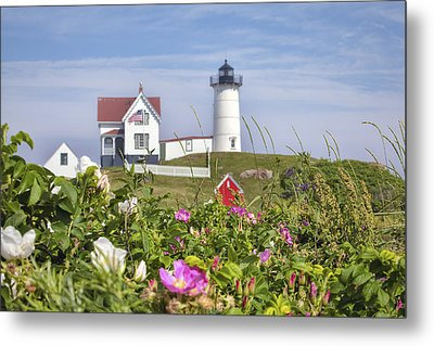 Summer At Nubble Light Metal Print by Eric Gendron