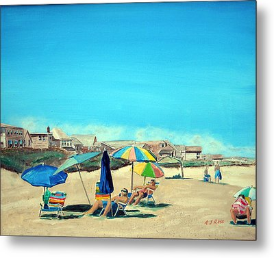 Summer At Salisbury Beach Metal Print by Anthony Ross