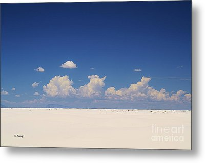 Summer At White Sands National Monument Metal Print by Roena King
