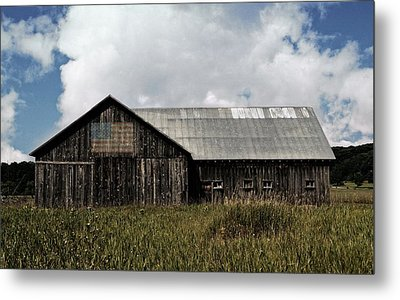 Summer Barn In The Country  Metal Print