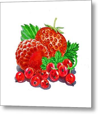 Summer Berries Metal Print by Irina Sztukowski
