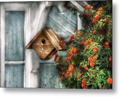 Summer - Birdhouse - The Birdhouse Metal Print by Mike Savad