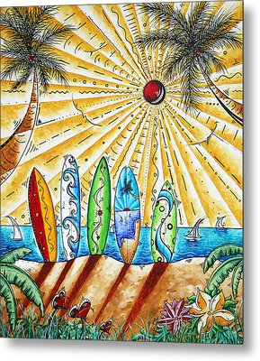 Summer Break By Madart Metal Print by Megan Duncanson