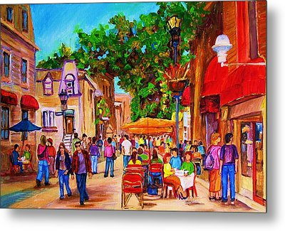 Metal Print featuring the painting Summer Cafes by Carole Spandau