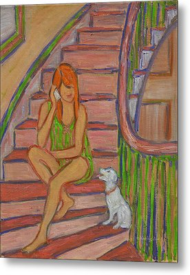 Summer Chat Metal Print by Xueling Zou