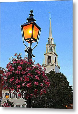 Summer Church And Lantern Metal Print