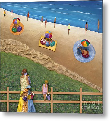 Metal Print featuring the sculpture Summer Colours by Anne Klar
