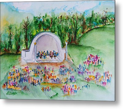 Summer Concert In The Park Metal Print