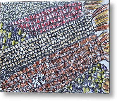 Summer Corn Metal Print by Kathy Marrs Chandler