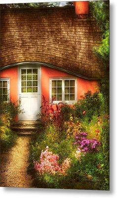 Summer - Cottage - Little Pink Play House Metal Print by Mike Savad