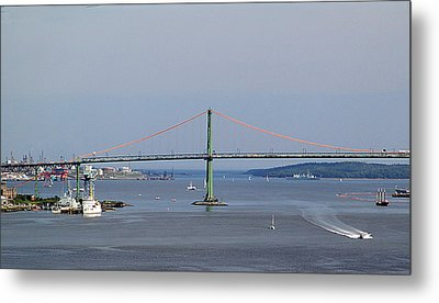 Summer Day On Halifax Harbour Metal Print by George Cousins