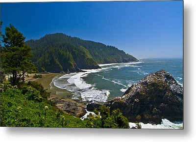 Summer Day On The Oregon Coast Metal Print
