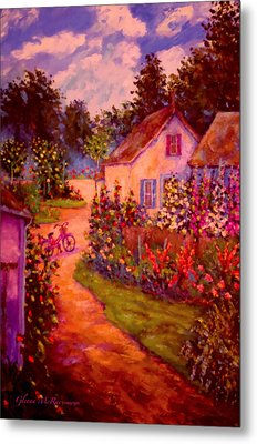 Summer Days At The Cottage Metal Print by Glenna McRae