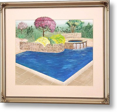 Metal Print featuring the painting Summer Days by Ron Davidson