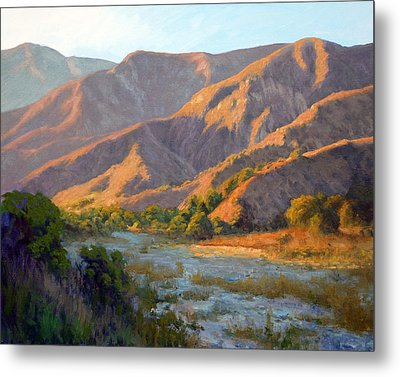 Summer Evening Eaton Canyon Metal Print