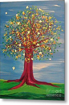 Summer Fantasy Tree Metal Print