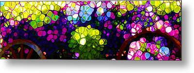 Summer Flowers In The Country Metal Print