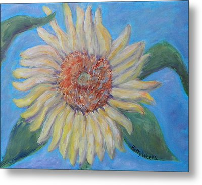 Summer Garden Sunflower Metal Print by Patty Weeks
