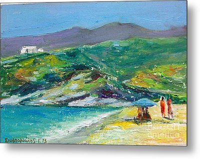 Summer In Greek Island Metal Print
