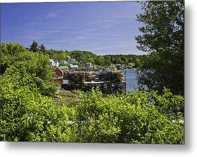 Summer In South Bristol On The Coast Of Maine Metal Print by Keith Webber Jr