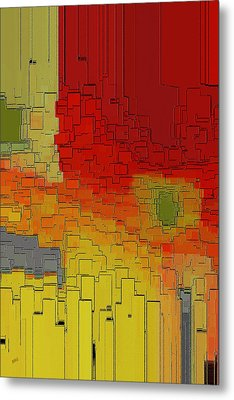 Summer In The Big City - Fantasy Cityscape Metal Print by Ben and Raisa Gertsberg