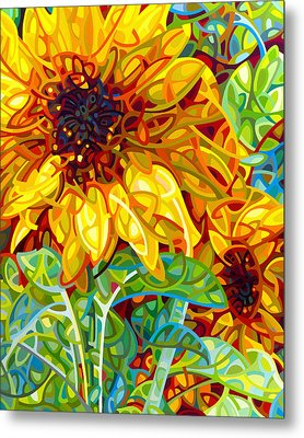 Summer In The Garden Metal Print by Mandy Budan