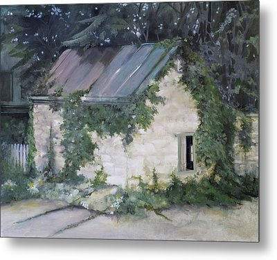 Metal Print featuring the painting Summer Kitchen by Rebecca Matthews
