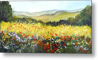 Summer Landscape Dream Metal Print by Dorothy Maier