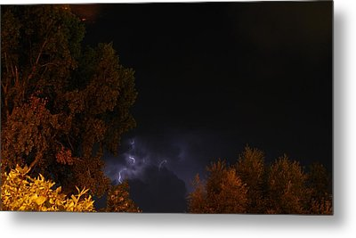 Metal Print featuring the photograph Summer Lightning Storm by Ramona Whiteaker