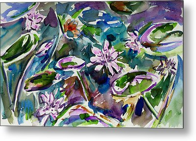 Summer Lily Pond Metal Print by Xueling Zou