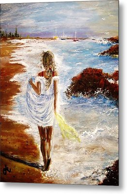 Metal Print featuring the painting Summer Memories by Cristina Mihailescu