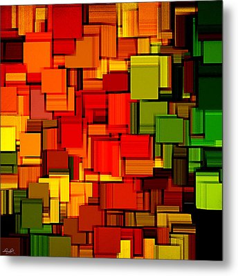Summer Modern Abstract Art Xviii Metal Print by Lourry Legarde