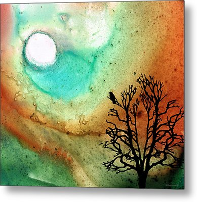 Summer Moon - Landscape Art By Sharon Cummings Metal Print by Sharon Cummings