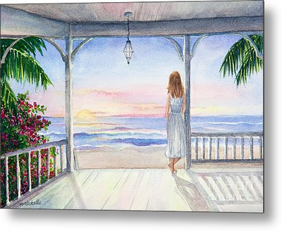 Summer Morning Watercolor Metal Print by Michelle Wiarda