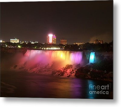 Summer Night In Niagara Falls Metal Print